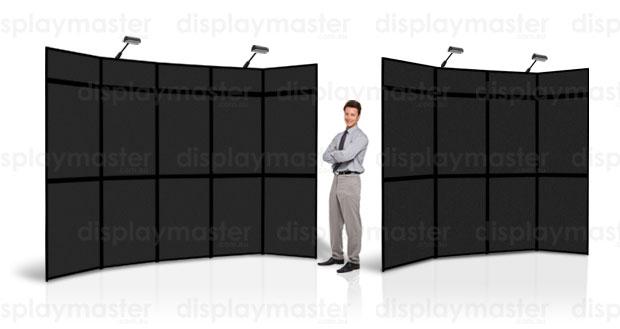 Exhibition Display Boards : Folding panel displays trade show display boards presentation