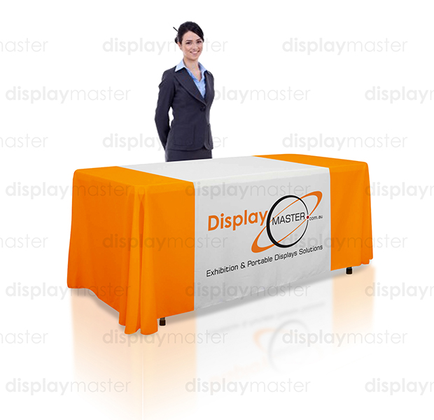 Exhibition Stand Tablecloths : Exhibition displays :: table cloths custom printed full colour