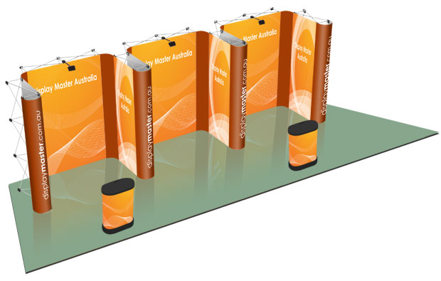 Exhibition Stand Types : Popup displays systems stand exhibition